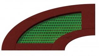 Trampolina 90 - element służący do budowy modułów