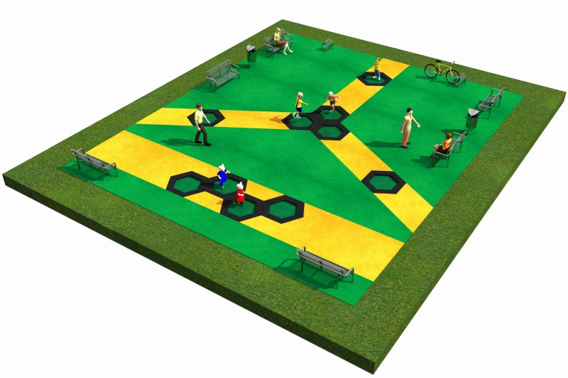 Trampolines  Layout 10 Place zabaw