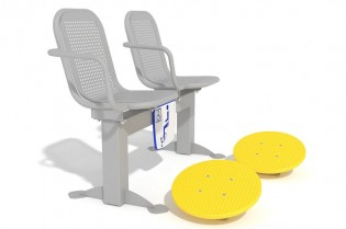 Zestaw podwójny ławka z ruchomymi platformami 1