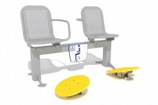 Zestaw podwójny ławka z ruchomymi platformami 3