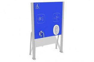 Tablica z ruchomymi uchwytami - wersja dla osób na wózkach