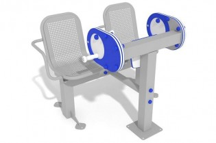 Zestaw podwójny ławka z młynkiem