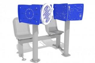 Zestaw podwójny ławka z tablicami do ćwiczenia pamięci