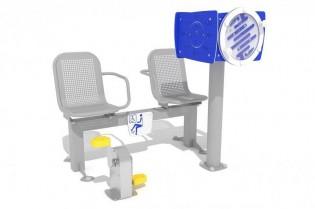 Zestaw podwójny ławka z rowerkiem i tablicami do ćwiczenia pamięci 2