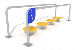 PLAY-PARK - Ścieżka z poręczami i ruchomymi stopniami
