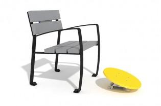 Zestaw ławka z ruchomą platformą 1