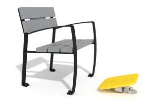 Zestaw ławka z ruchomą platformą 2