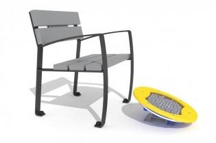 Zestaw ławka z ruchomą platformą zawierającą labirynt 2
