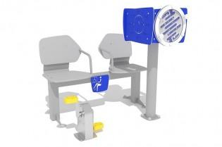 PLAY-PARK - Zestaw podwójny ławka z rowerkiem i tablicami do ćwiczenia pamięci 2