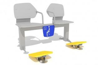 Zestaw podwójny ławka z ruchomymi platformami 2