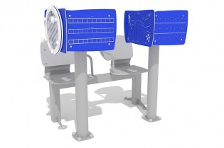 PLAY-PARK - Zestaw podwójny ławka z tablicami do ćwiczenia pamięci