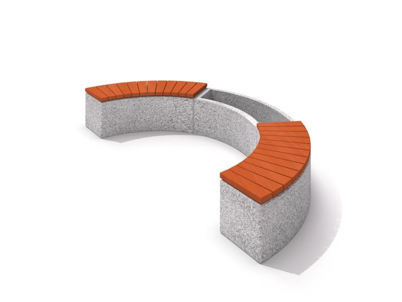 Donica betonowa zestaw z ławką 06 Place zabaw