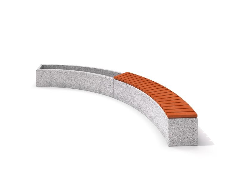 Donica betonowa zestaw z ławką 03 Place zabaw