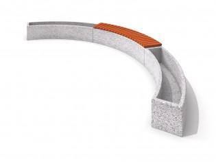 Donica betonowa zestaw z ławką 05