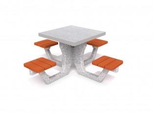 Betonowy stół piknikowy 01