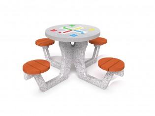 PLAY-PARK - Betonowy stół do gry w chińczyka 03
