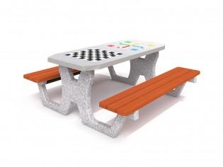 PLAY-PARK - Betonowy stół do gry w szachy / warcaby / chińczyka 02