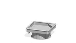 PLAY-PARK - Kwadratowy stół wodny 0,25 m