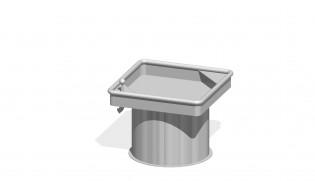 Kwadratowy stół wodny 0,50 m
