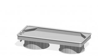PLAY-PARK - Prostokątny stół wodny 0,25 m