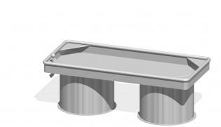 Prostokątny stół wodny 0,50 m