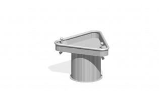 Trójkątny stół wodny 0,5 m