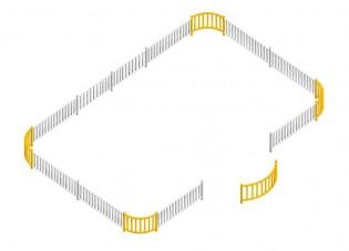 Ogrodzenie dla huśtawki Saturn
