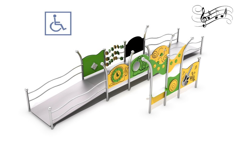 Playground for disabled people, producer of metal devices, handicapped playground equipment Zestaw integracyjny Kajo 1