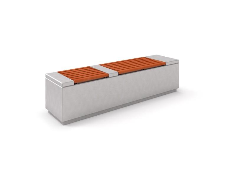 Ławka betonowa DECO 2 Place zabaw