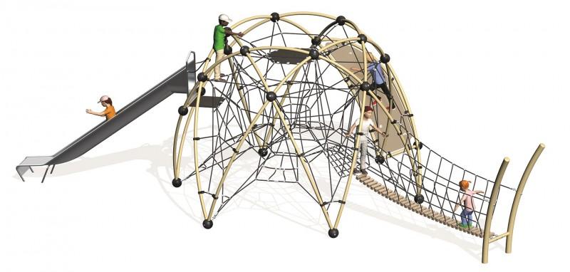 urządzenie wspinaczkowe na plac zabaw Sirius 4