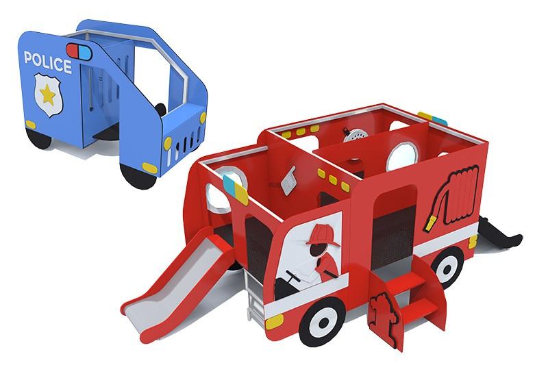 Zabawki na place zabaw  seria TRANSPORTO