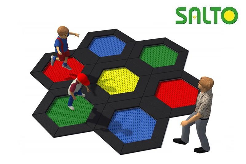 Zabawki na place zabaw  Zestawy trampolin