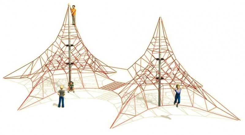 Plac zabaw  plac zabaw linowy Linarium wspinaczkowe Ben Nevis 2 Play Park