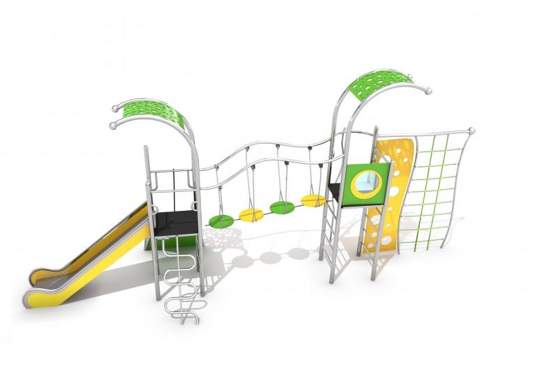 Play Park - Plac zabaw metalowe Zestaw Domo 2-3