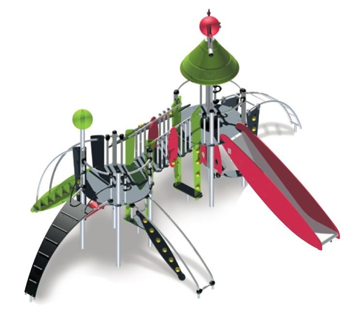 Play Park - Plac zabaw metalowe Zestaw Melilla