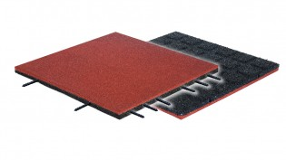 PLAY-PARK - FLEXI-STEP PLUS bezpieczna płytka 500x500x30-45mm