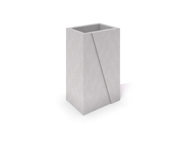 DECO white concrete planter 01 Place zabaw
