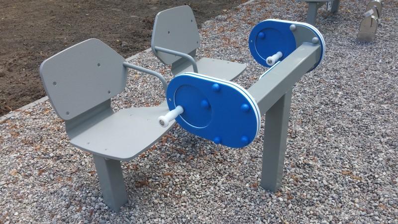 Plac zabaw Zestaw podwójny ławka z młynkiem PLAY-PARK