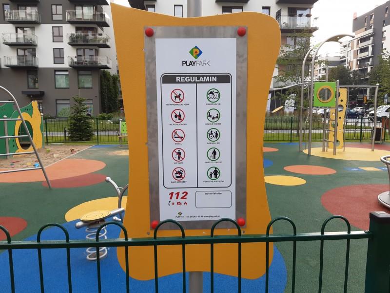 Plac zabaw Tablica informacyjna Tablo PLAY-PARK