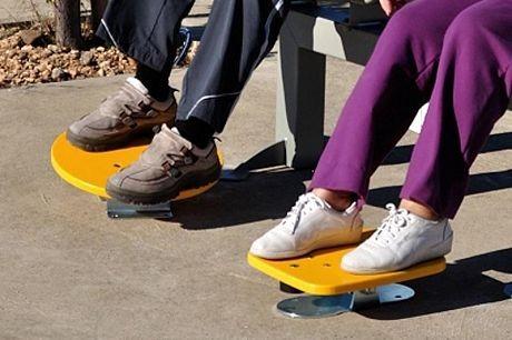 Plac zabaw Zestaw podwójny ławka z ruchomymi platformami 3 Play Park