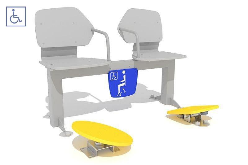 Plac zabaw Zestaw podwójny ławka z ruchomymi platformami 3 PLAY-PARK