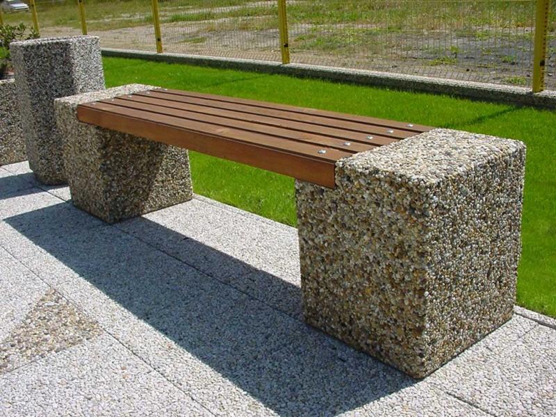 Plac zabaw Ławka betonowa 8 PLAY-PARK