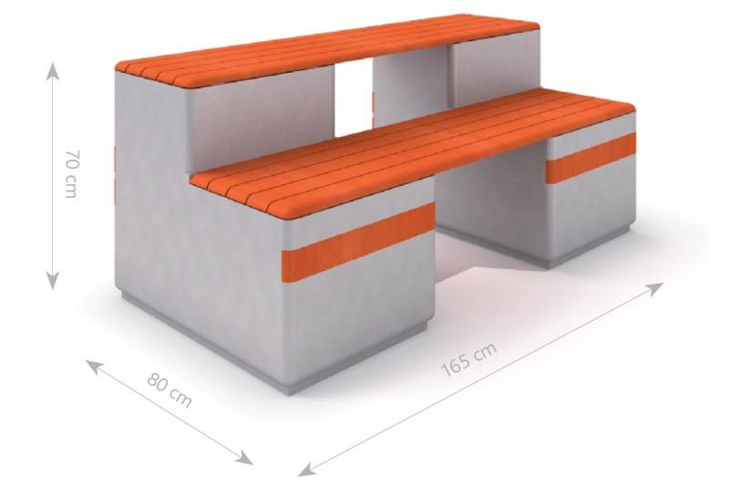 Plac zabaw Ławka betonowa DECO 12 PLAY-PARK