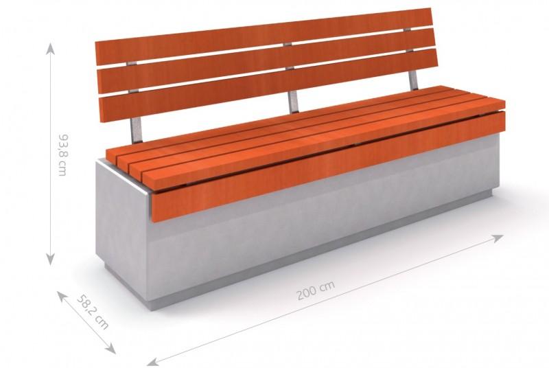 Plac zabaw Ławka betonowa DECO 1 PLAY-PARK