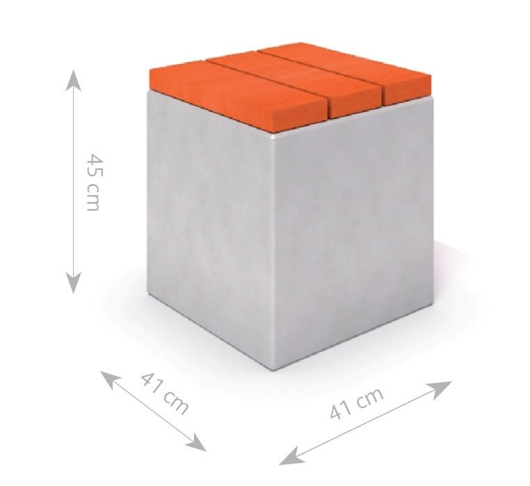 Plac zabaw Ławka betonowa DECO 6 PLAY-PARK
