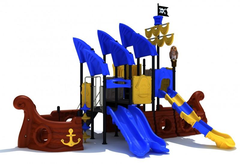 KATEGORIA Plac zabaw zjeżdżalnia Zestaw Statek Piracki  2