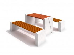 Stół betonowy DECO z ławkami