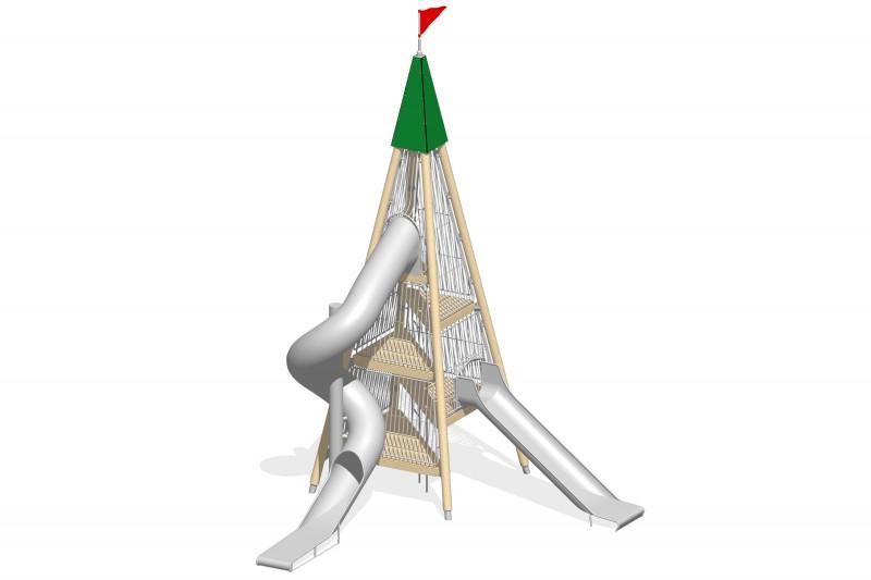 Plac zabaw stal nierdzewna Zestaw Wieża 3