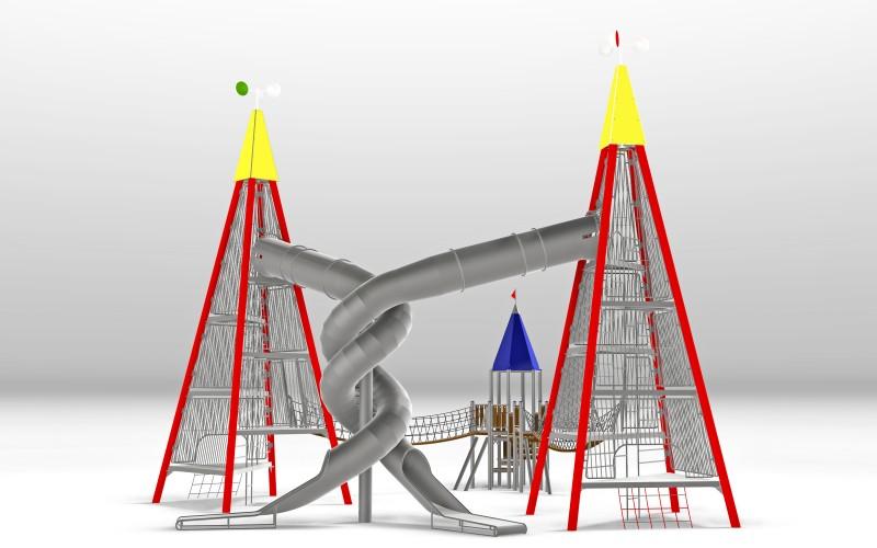 KATEGORIA Plac zabaw zjeżdżalnia Zestaw Wieża 12