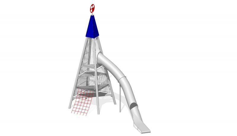 Plac zabaw stal nierdzewna Zestaw Wieża 2